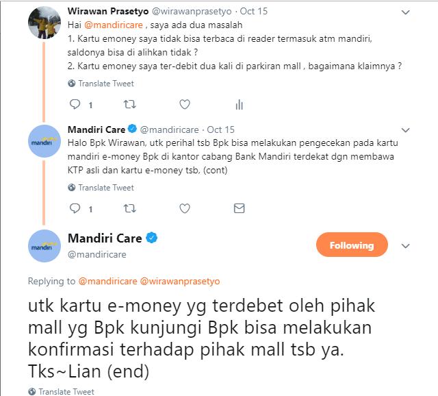 Refund E-Money Twitter