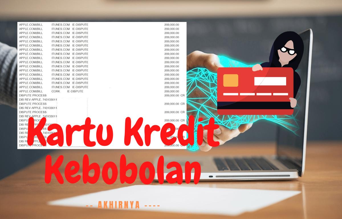 Kartu Kredit Kebobolan Akhirnya