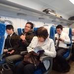 Japan Shinkansen from Osaka to Kyoto