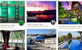 airbnb - berbagai jenis akomodasi tersedia rumah, apartemen bahkan yatch