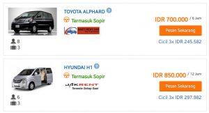tiket.com - car rent