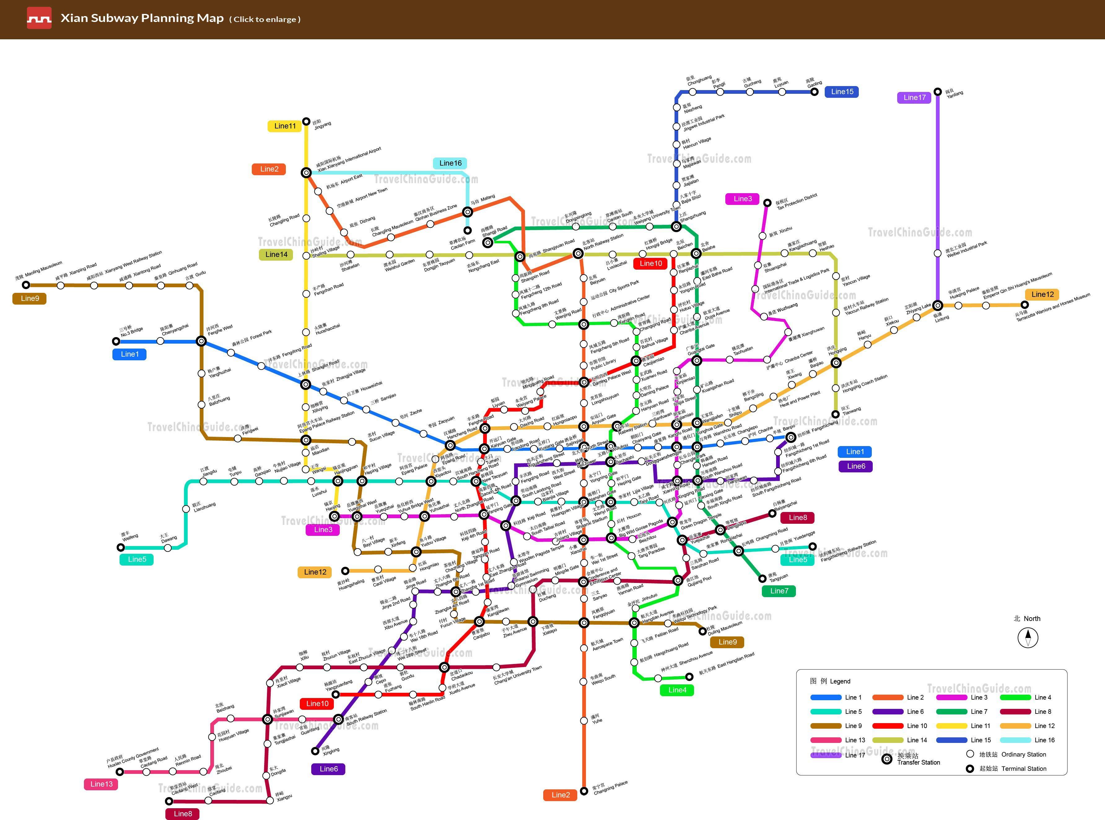 Xian Metro - map yang ditunjukkan teman ke petugas