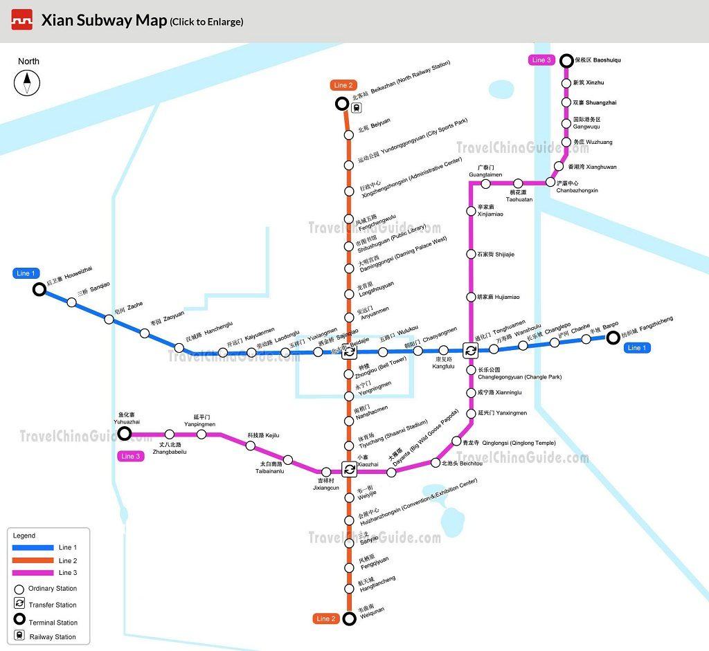 xian subway - kondisi saat ini