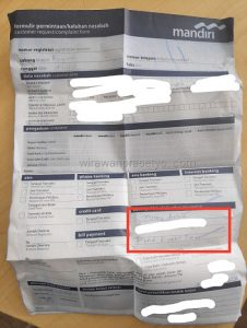 Form Refund Emoney Mandiri 1