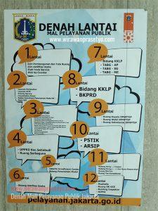 Denah Mall Pelayanan Publik Jakarta